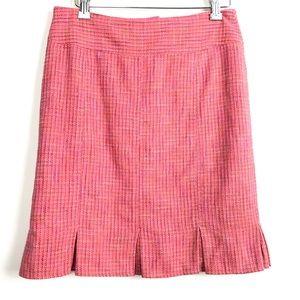 🛍 4/$20 Nanette Lepore Tweed Pleated Hem Skirt
